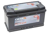 Автомобільний акумулятор Deta Senator 3 Carbon Boost DA1000, 100Ah/900A, R+ пусковий для легкових та вантажних