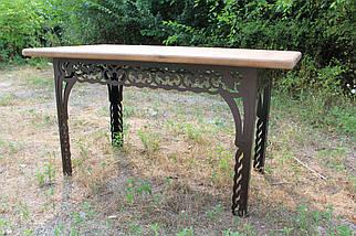 Набор садовой мебели (Стол, скамейки 150см) цвет шоколадный, фото 3