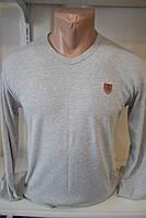 Мужская футболка стрейч коттон длинные рукава оптом