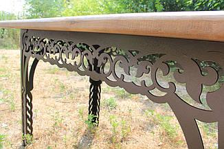 Стол садовый декоративный, 150см, цвет черный/коричневый, фото 3