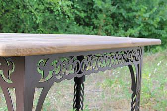 Стол садовый декоративный, 150см, цвет черный/коричневый, фото 2