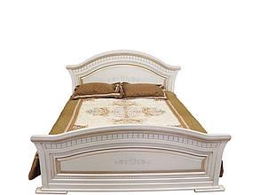 Кровать 2-сп Николь патина 1,6 Белый/Белое дерево патина (Світ Меблів TM), фото 2