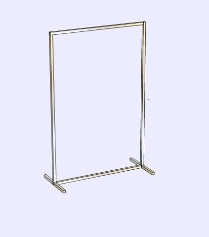 Стойка для одежды из квадратной трубы п-образная