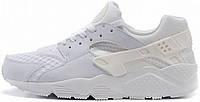 Женские кроссовки Nike Air Huarache Triple White, найк хуарачи