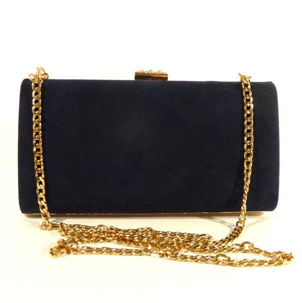 Клатч-бокс сумочка замшевая женская синяя 8119-1