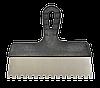 Шпатель 150мм, зуб 6х6мм нержавеющий с пластмассовой ручкой FAVORIT