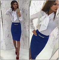 Костюм женский в деловом стиле с блузой P3222