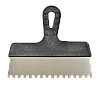 Шпатель 150мм, зуб 8х8мм нержавеющий с пластмассовой ручкой FAVORIT