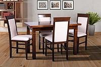 """Стол обеденный из массива сосны """"Атлант"""" (1200(+400)*700) орех, фото 1"""