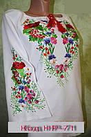 Стильная женская вышиванка Цветочная лужайка