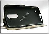 Розовый чехол LG K10 K430 K410, чехол-книжка, эко кожа, фото 2