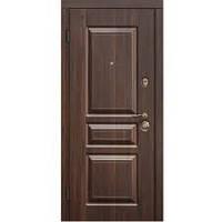 """Двери входные металлические с МДФ Steelguard™ модель TermoScreen """"Тёмный орех/Белый мат"""""""