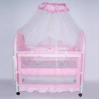 Детская кроватка для малышей металлическая,  XG9136