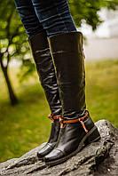 Сапоги черные М-101  из натуральной кожи