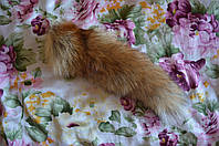 Хвост - подвеска лисий рыжий, фото 1