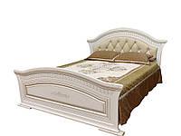 Кровать 2-сп Николь патина 1,6 м с мягким быльцем (Світ Меблів TM)