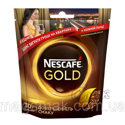 Кофе Nescafe Gold (Нескафе Голд), 30 г, фото 2