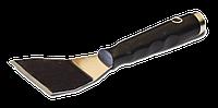 Шпательная лопатка 75мм нержавеющая, изогнутое лезвие FAVORIT