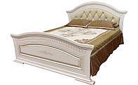 Кровать 2-сп Николь патина 1,8 м с мгяким быльцем (Світ Меблів TM)
