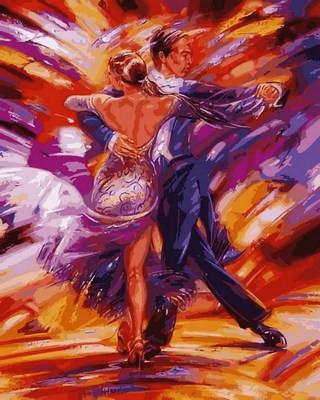 """Раскраска по номерам """"Зажигательное танго"""" (VP564) Турбо 40 х 50 см"""