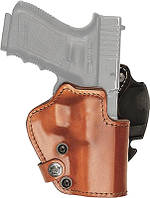Кобура Front Line открытая, поясная, кожа, для Glock 19, 23, 32 ц:коричневый