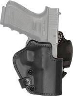 Кобура Front Line открытая, поясная, кожа, для Glock 19, 23, 32 ц:черный