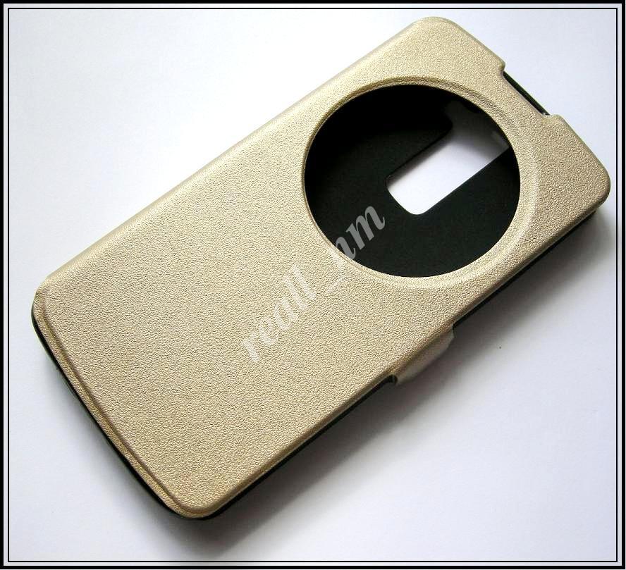 Противоударный золотой чехол LG K10 K430 K410, чехол-книжка, эко кожа