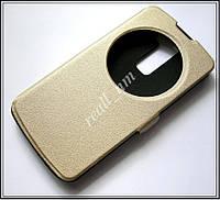 Противоударный золотой чехол LG K10 K430 K410, чехол-книжка, эко кожа, фото 1