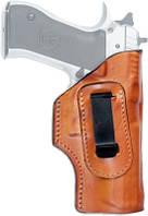 Кобура Front Line поясная, скрытого ношения, кожа, тефлон для Glock 17, 22, 31 ц:коричневый