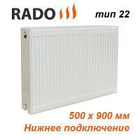 Радиатор стальной панельный RADO 22 500х900 (боковое подключение)