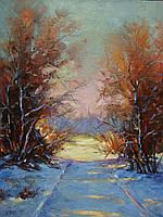 «Начало зимы» картина маслом