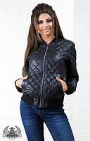 Куртка женская, Ткань : плотная плащевка , 100 синтепон, стежка -ромб , манжеты и пояс из ребаны ,роле № 2036