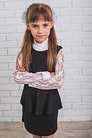 Школьный сарафан для девочки с баской, фото 1