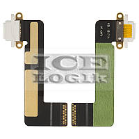Шлейф для планшета Apple iPad Mini, коннектора зарядки, с компонентами, белый
