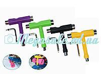 Ключ для скейтборда T-образный (ключ для скейта): 4 цвета