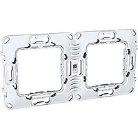 Суппорт технополимер для механизмов Unica. 2-постовая рамка MGU7.004.Р.