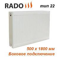 Радиатор стальной панельный RADO 22 500х1800 (боковое подключение)