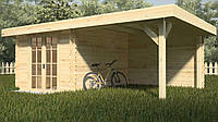 Сборный деревянный дачный домик