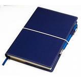 Елегантний діловий блокнот з трьома кишеньками для візиток і тримачем для ручок, фото 2