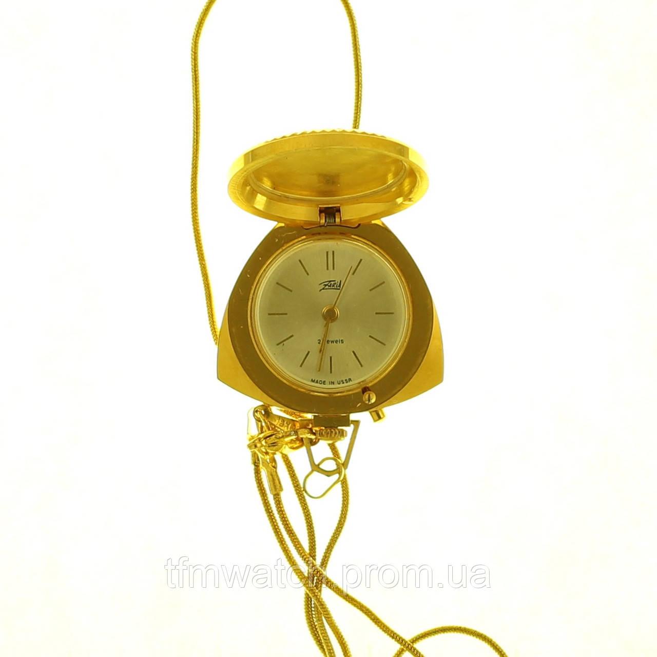 Женские механические часы-кулон СССР Заря