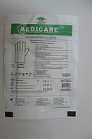 Перчатки латексные стерильные смотровые / размер (L) / Medicare , фото 1