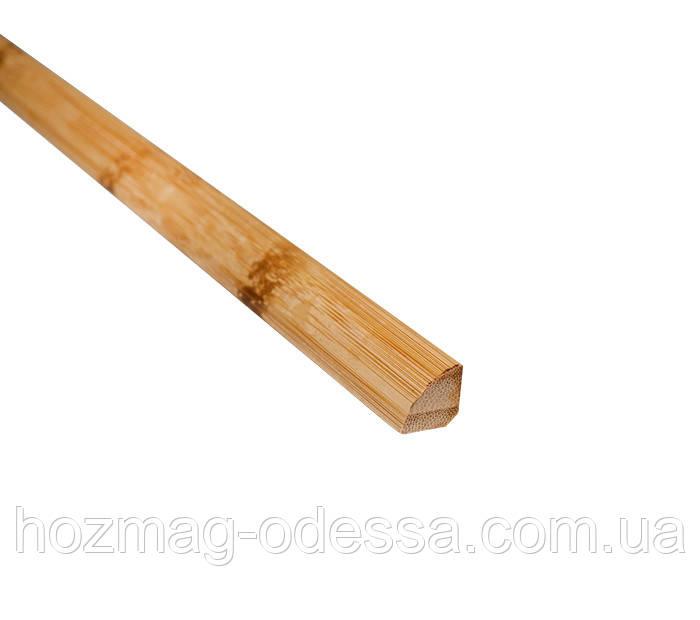 Бамбуковый молдинг угловой внутренний,черепаховый светлый, четвертинка