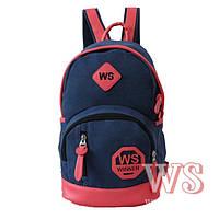 Рюкзак для девочки подростка, сине-терракотовый