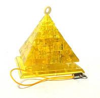 """Кристаллический пазл 3D - брелок """"Светящаяся пирамида"""", фото 1"""