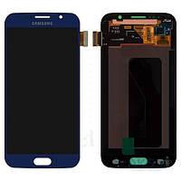 Дисплей (экран) для телефона Samsung Galaxy S6 G920F + Touchscreen Original Blue