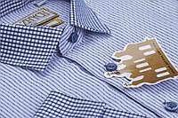 """Елітна шкільна сорочка для хлопчика в синю полоску """"Княжич"""", фото 1"""