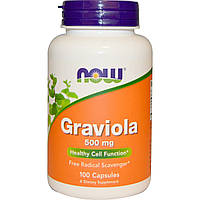 Гравиола (Graviola), Now Foods, 500 мг, 100 капсул