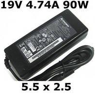 Зарядка для ноутбука Lenovo, мощный сетевой адаптер 19 В, 90 Вт, 4,74 А, разъем 5,5х2,5 мм, В класс