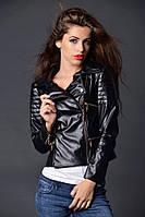 Женская короткая курточка чёрная КРАСИВАЯ