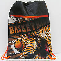 "Мешок для обуви со змейкой ""Баскетбол"" 42*32,5см"